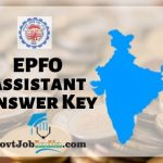 EPFO Assistant Solution Key 2019