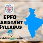 EPFO Assistant Syllabus 2019 PDF Download
