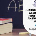 JPSC Asst Professor Answer Sheet 2019