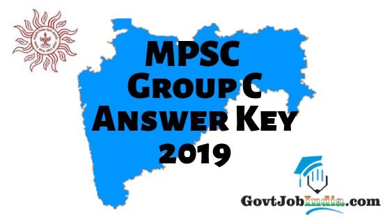 MPSC Group C Answer Key 2019
