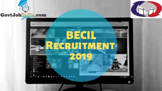 BECIL Recruitment 2019 (1)