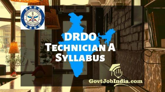 DRDO Technician A Syllabus 2019 PDF - CEPTAM 09 Exam Pattern