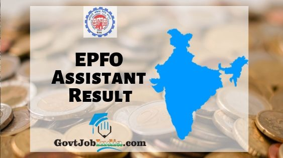 EPFO Assistant Result