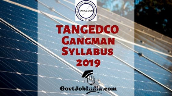 TANGEDCO Gangman Syllabus PDF Download 2019