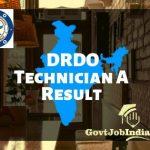 DRDO Technician Result