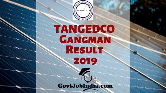 TANGEDCO Gangman Result 2019