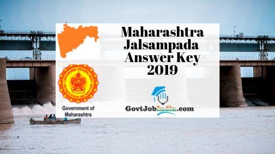 Maharashtra WRD Answer Key 2019