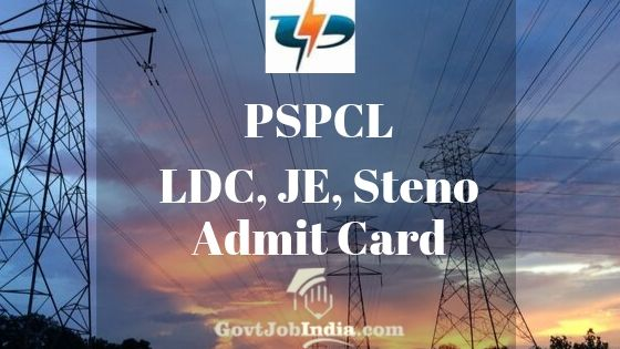 PSPCL LDC Hall Ticket