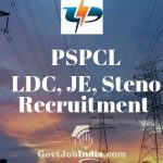 PSPCL LDC, JE, Steno Recruitment