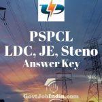 PSPCL LDC Answer Key