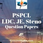 PSPCL LDC, JE, Steno Previous Papers