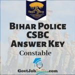 Bihar Police Constable CBT Answer Key
