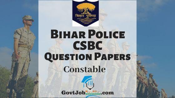 Bihar Police CSBC Constable Model Papers PDF