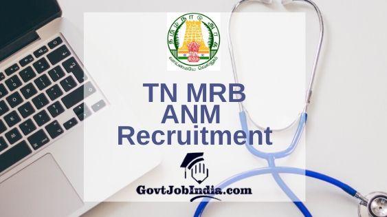 TNMRB Village Health Nurse Recruitment